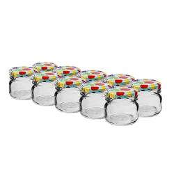 Guci 30 ml hias kecil dengan tutup berwarna-warni - ø 43 mm - set 10 potong -