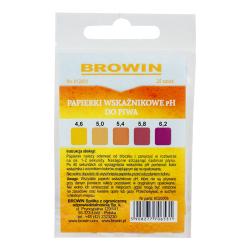Tiras indicadoras (papel tornasol) para cerveza y vino - Rango de medición de pH 4.6-6.2 - 25 piezas -