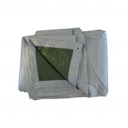 Tarpaulin - 4 x 5 m - perak-hijau -