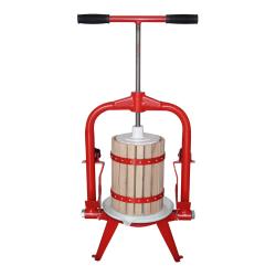 T-bar frame fruit press with nylon mashing bag - for juice pressing - 6 litre