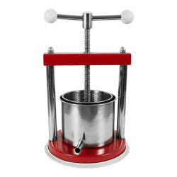 Stainless steel t-bar frame fruit press - for juice pressing - 1.2 litre