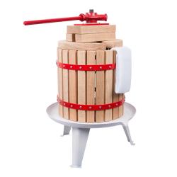 Spindle fruit press with nylon mashing bag - for juice pressing - 12 litre