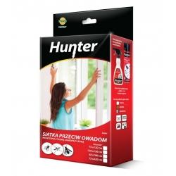 Balts logu kukaiņu aizsardzības sieta ekrāns ar pašlīmējošo lenti - 130 x 150 cm - Hunter -