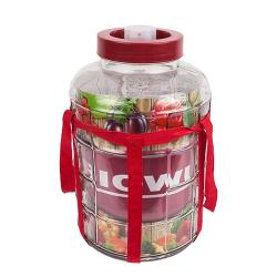 Garrafa con correa y tapa de plástico - para vino, licores y conservas - 10 litros -