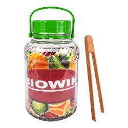 Jar tartóval és műanyag fedéllel - ideális tartósításhoz - 5 liter -