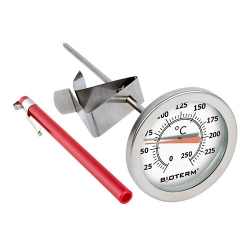 Kitchen thermometer for roasting, smoking, cooking - with a clip mounting - temperature range 0-250°C - 180 mm
