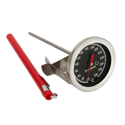 Kitchen thermometer for roasting, smoking, cooking - with a clip mounting - temperature range 20-300°C - 140 mm