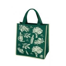 Iepirkumu soma - 34 x 36 x 22 cm - olīvu zaļa -