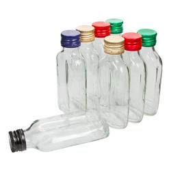"""مجموعه بطری های لیوان """"فلاسک لگن"""" با کپسول های از قبل - 100 میلی لیتر - 8 قطعه -"""