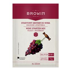 Set básico de vinificación - levadura + nutriente - ¡para 50 litros de vino! -