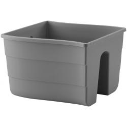 """Pot tanaman yang dipasang di pagar """"Wave"""" - 30 cm - kelabu antrasit -"""