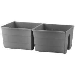 """Wave"" railing-mounted plant pot - 30 cm - anthracite-grey"