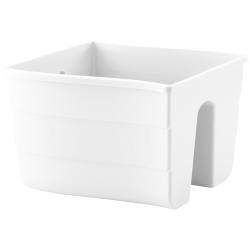 """Pot tanam pagar """"Wave"""" - 30 cm - putih -"""
