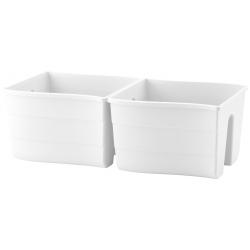 """Wave"" railing-mounted plant pot - 30 cm - white"
