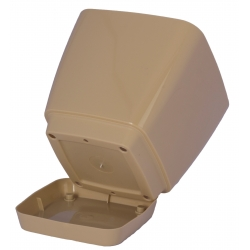 "Pot tanaman persegi ""Toscana"" dengan piring - 11 cm - teh dengan susu -"