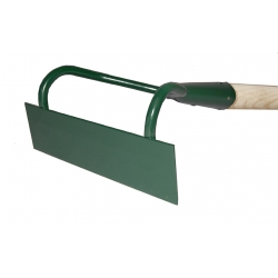 Two-sided 18 cm hand hoe with a handle