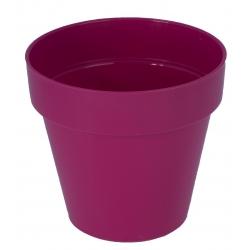 """Ibiza"" round pot casing - 18 cm - blueberry-purple"