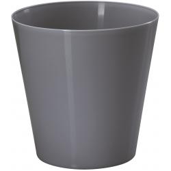 """Vulcano"" round pot casing - 9.5 cm - anthracite-grey"