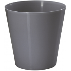 "Caja redonda ""Vulcano"" - 15 cm - gris antracita -"