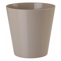 """Caja redonda """"Vulcano"""" - 17 cm - beige (café con leche) -"""
