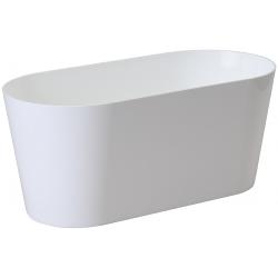 """Jardinera ovalada """"Vulcano"""" - 23 cm - blanco -"""