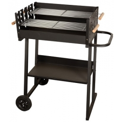 Téglalap alakú grillrács 59 x 44,5 cm - kétszintes grillezés -