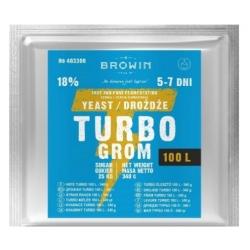 Спиртовые дрожжи Turbo 100 л - быстрое, чистое и эффективное брожение - 340 грамм -
