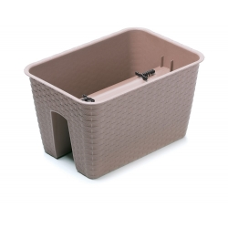 """""""Ratolla"""" plant pot for mounting on railings and handrails - 40 cm - mocha-brown"""