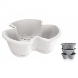 """Respana Trio"" triple-pot 40 cm herb planter - set of 3 pieces - white"