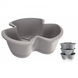 """""""Respana Trio"""" triple-pot 35 cm herb planter - set of 3 pieces - stone-grey"""