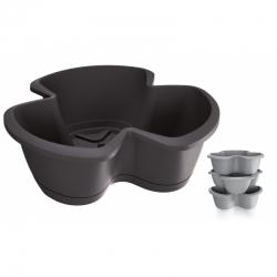 """""""Respana Trio"""" triple-pot 40 cm herb planter - set of 3 pieces - anthracite-grey"""