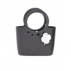 Еластична и издръжлива чанта Lily - 16 см - графитово сиво -