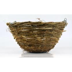 Wickerwork hanging flower basket - 30 cm - model FL5294