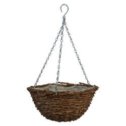 Wickerwork hanging flower basket - 30 cm - model FL5616