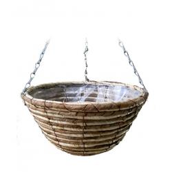 Wickerwork hanging flower basket - 30 cm - model FL8255