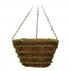 Wickerwork hanging flower basket - 30 cm - model FL9184
