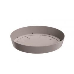 """Лагани тањир за цвеће """"Лофли"""" - 10,5 цм - камен-сив -"""