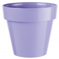 """Ibiza"" round hanging plant pot casing - 18 cm - light lavender-blue"