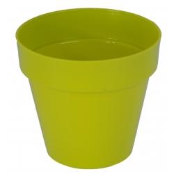 """Ibiza"" round hanging plant pot casing - 22 cm - pistachio-green"