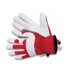 Sarung tangan kebun Forester merah - putih - untuk pekerjaan berkebun musim gugur dan musim dingin -