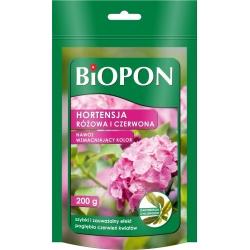 Hnojivo zvyšujúce farbu pre červené a ružové hortenzie - BIOPON® - 200 g -