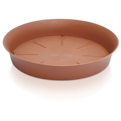 """Pot tanaman bundar """"Plastica"""" dengan cawan - 9 cm - berwarna terakota -"""