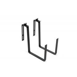 """Conjunto de balcón """"Begonia"""" - 19 x 56 cm - ratán gris grafito -"""