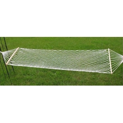 Mesh hammock - 200 x 80 cm - with wooden support posts