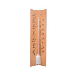 Iekštelpu koka brūns taisns termometrs - 40x150 mm -