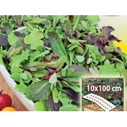 Värsked lehed - perekondlik segu - kastides kasvatamiseks, 10x100 cm matt -
