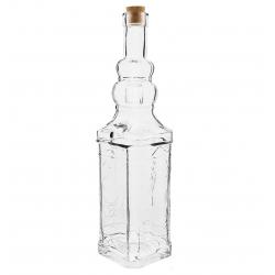 Klaaspudel korgiga - Torn - 750 ml -
