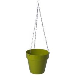 """Ibiza"" round hanging plant pot casing - 20 cm - pistachio-green"