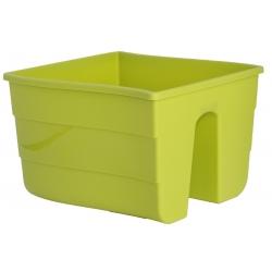 """Pot tanaman yang dipasang di pagar """"Wave"""" - 30 cm - hijau pistachio -"""