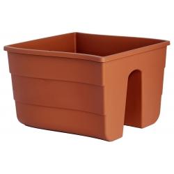 """Pot tanaman pagar """"gelombang"""" - 30 cm - berwarna terakota -"""